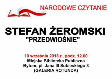 """Akcja """"Narodowe Czytanie"""" w Bytomiu"""