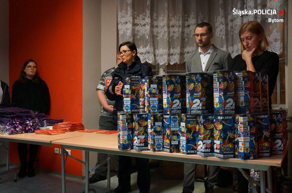 Policjanci zadbali o bezpieczeństwo podczas 27 Finału WOŚP w Bytomiu